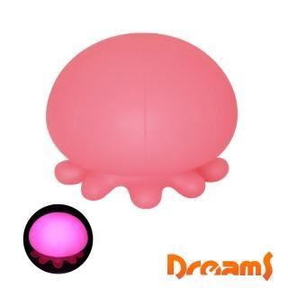 【Dreams】大水母造型LED氣氛呼吸燈(粉紅)