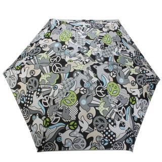 【LeSportsac】和平鴿輕便摺疊傘(灰/黑)
