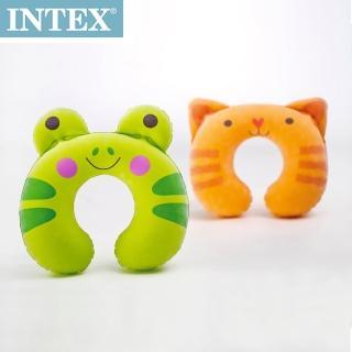 【INTEX】充氣護頸枕-動物造型(隨機出貨)