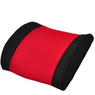 【雅曼斯Amance】3D健康舒壓透氣護腰墊(紅黑)