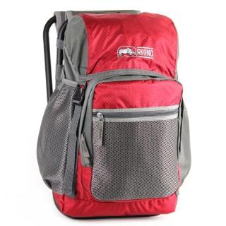 【犀牛RHINO】22公升椅子背包(紅灰)
