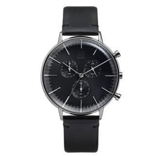 【ZOOM】REFINE 純粹經典計時腕錶(黑 /44mm)