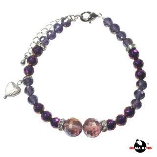 【HEMAKING】黑膽石絢麗紫紅手鍊