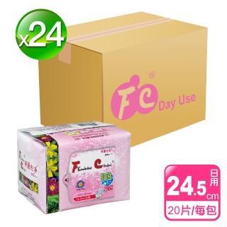 【長榮生醫】FC美麗先淨天然草本抑菌衛生棉(日用*24包/共480片-網)