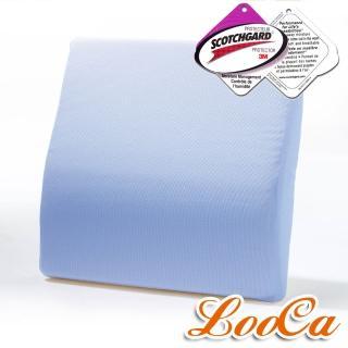 ~ ~LooCa吸濕排汗釋壓腰靠墊^(藍色~1入^)