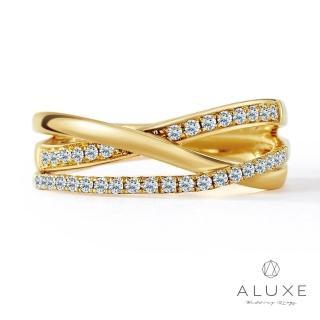 【A-LUXE 亞立詩】18K黃金奢華鑽石線戒