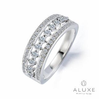 【A-LUXE 亞立詩】18K金古典維多利亞鑽石線戒