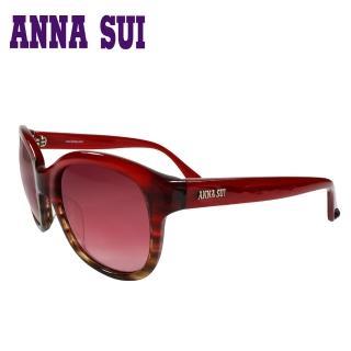 【Anna Sui】日本安娜蘇 經典造型款太陽眼鏡(紅色-AS823-204)