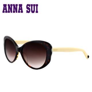 【Anna Sui】日本安娜蘇 經典名模時尚太陽眼鏡(咖啡色-AS930-101)