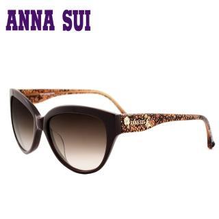 ~Anna Sui~ 安娜蘇 晶鑽蕾絲鏡腳 太陽眼鏡^(咖啡色~AS875~173^)