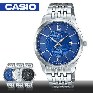 【CASIO 卡西歐】簡約不鏽鋼石英男錶(BEM-151D)