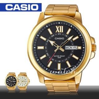 【CASIO 卡西歐】金色大方_送禮推薦_時尚不鏽鋼石英男錶(MTP-X100G)