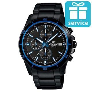 【CASIO】EDIFICE 全新跳色設計蘊藏賽車精髓指針腕錶(EFR-526BK-1A2)