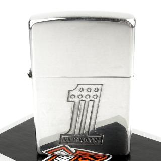【ZIPPO】日系-Harley-Davidson-哈雷-銀燻黑蝕刻3面加工