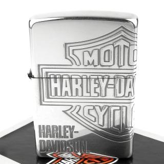 【ZIPPO】日系-Harley-Davidson-哈雷-銀燻黑蝕刻4面加工