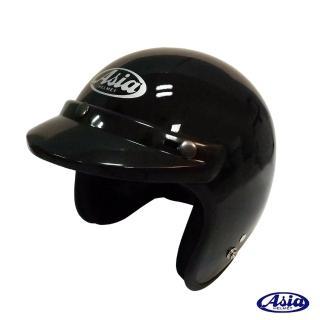 【ASIA】A706 精裝素色細條安全帽(亮黑)