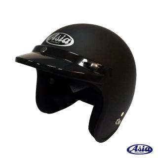 【ASIA】A706 精裝素色細條安全帽(平黑)