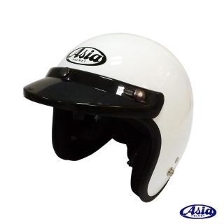 【ASIA】A706 精裝素色細條安全帽(白)