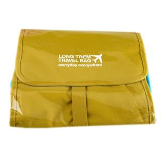 【iSFun】旅行專用*摺疊可拆組合化妝包/黃綠
