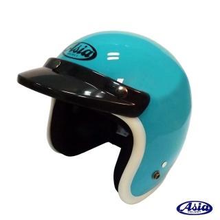 【ASIA】A706 精裝素色寬條安全帽(湖水綠/白)