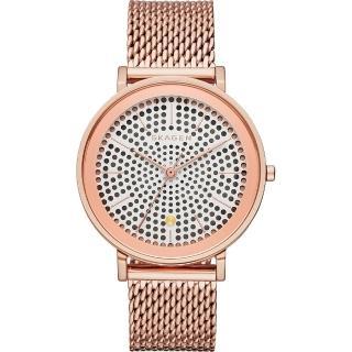 【SKAGEN】HALD 系列 solar 北歐風米蘭女錶-玫塊金/34mm(SKW2447)