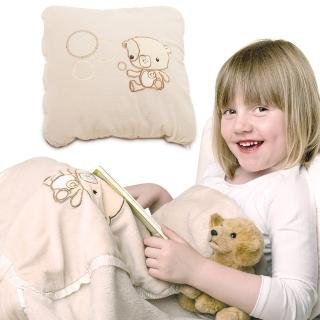 【奇哥 ClevaMama】小熊二用枕頭/毯