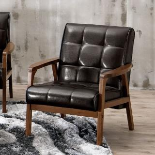 【Bernice】曼哈頓實木沙發單人椅/單人座
