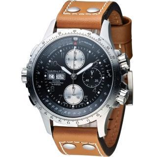 【Hamilton 漢米爾頓】ID4 星際重生 卡其御風者時尚計時腕錶(H77616533)