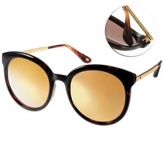 【Go-Getter 太陽眼鏡】熱銷大框貓眼水銀鏡面款(桔-琥珀棕金#GS4002 C06)