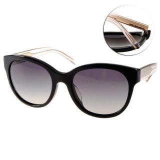 【BURBERRY 太陽眼鏡】知性柔美微貓眼款(黑-透棕#BU4187F 35078G)