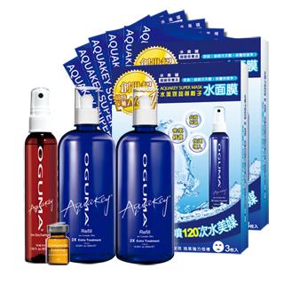【OGUMA水美媒】強力保濕旗艦組(水美媒500ml X 2瓶+DaySpa x 1瓶+水面膜3入X 2盒)