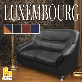 【ASSARI】盧森堡雙人座皮沙發