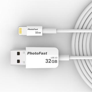 【PhotoFast】Photo Backup Cable USB3.0 32G 隨身相本線型隨身碟