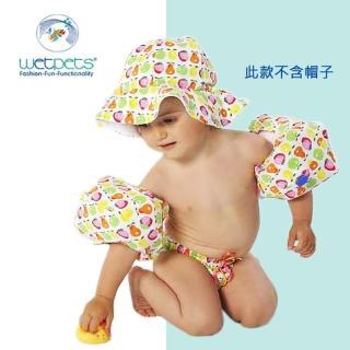 【德國 WetPets】兒童泳裝組/女童泳裝/附臂圈/寶寶-Pippa熱帶水果(74-86cm)
