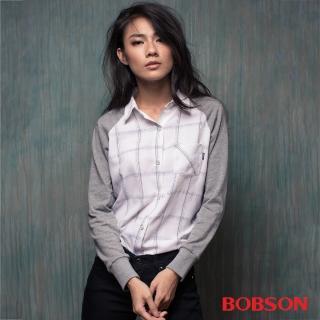 【BOBSON】女款異素材襯衫(35091-02)