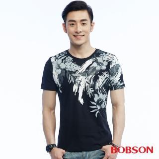 【BOBSON】男款印花上衣(26020-88)