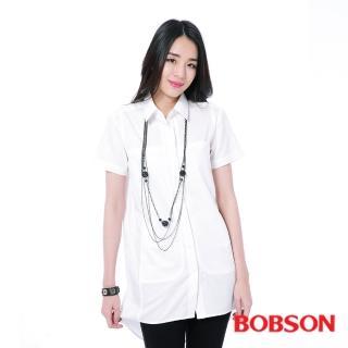 【BOBSON】女款長版襯衫(白26127-80)