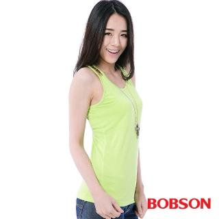 【BOBSON】女款手縫亮片背心(綠25072-41)