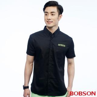 【BOBSON】男款素面襯衫(黑25041-88)