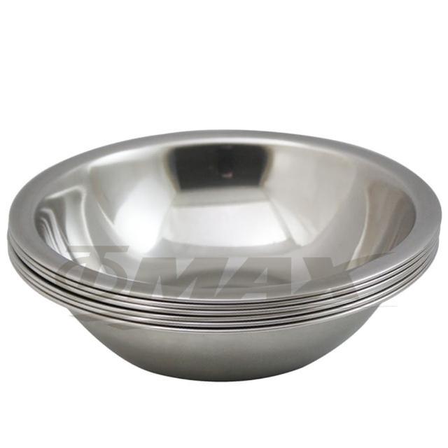 【omax】高級不銹鋼湯碗18cm中-6入+保溫保冷袋1入(隨機出貨-12H)