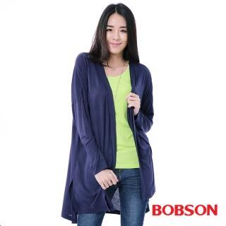 【BOBSON】女款落肩寬版罩衫(藍35130-53)
