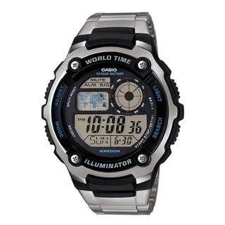 【CASIO】10年電力防水運動不銹鋼錶(AE-2100WD-1A)
