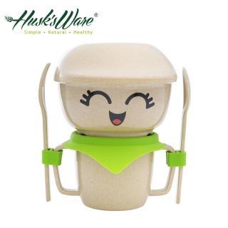 【美國Husk's ware】稻殼天然無毒環保兒童餐具經典人偶迷你款(綠色)