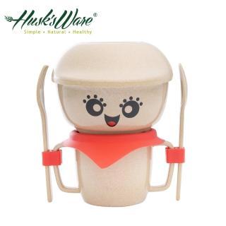 【美國Husk's ware】稻殼天然無毒環保兒童餐具經典人偶迷你款(紅色)