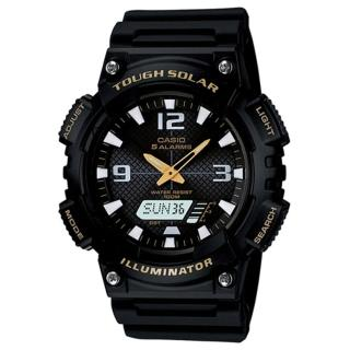 【CASIO】頂級戶外太陽能電力運動雙顯錶(AQ-S810W-1B)