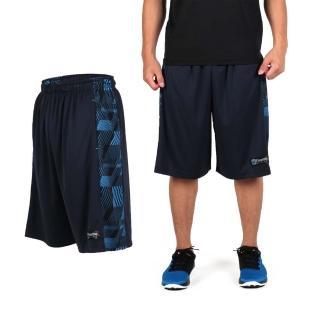 【FIRESTAR】男吸排籃球褲-運動短褲 休閒短褲(丈青淺藍)