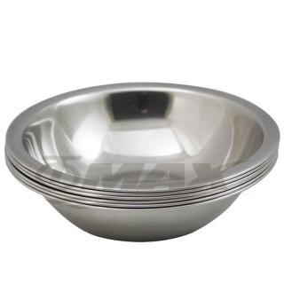 【omax】高級不銹鋼湯碗16cm小-6入+保溫保冷袋1入(隨機出貨)