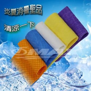 PVA仿麂皮瞬間涼感領巾99x14cm-2入+方巾1入(顏色隨機出貨)