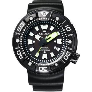 【CITIZEN】星辰 Promaster 光動能專業300米潛水腕錶-黑(BN0177-05E)