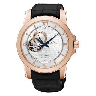 【SEIKO 精工】PREMIER 24小時顯示開芯機械錶(41mm/4R39-00P0P)